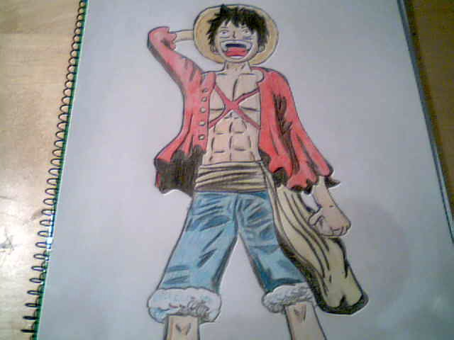 Mi dibujo one piece luffy despu s de dos a os taringa for Dibujos one piece