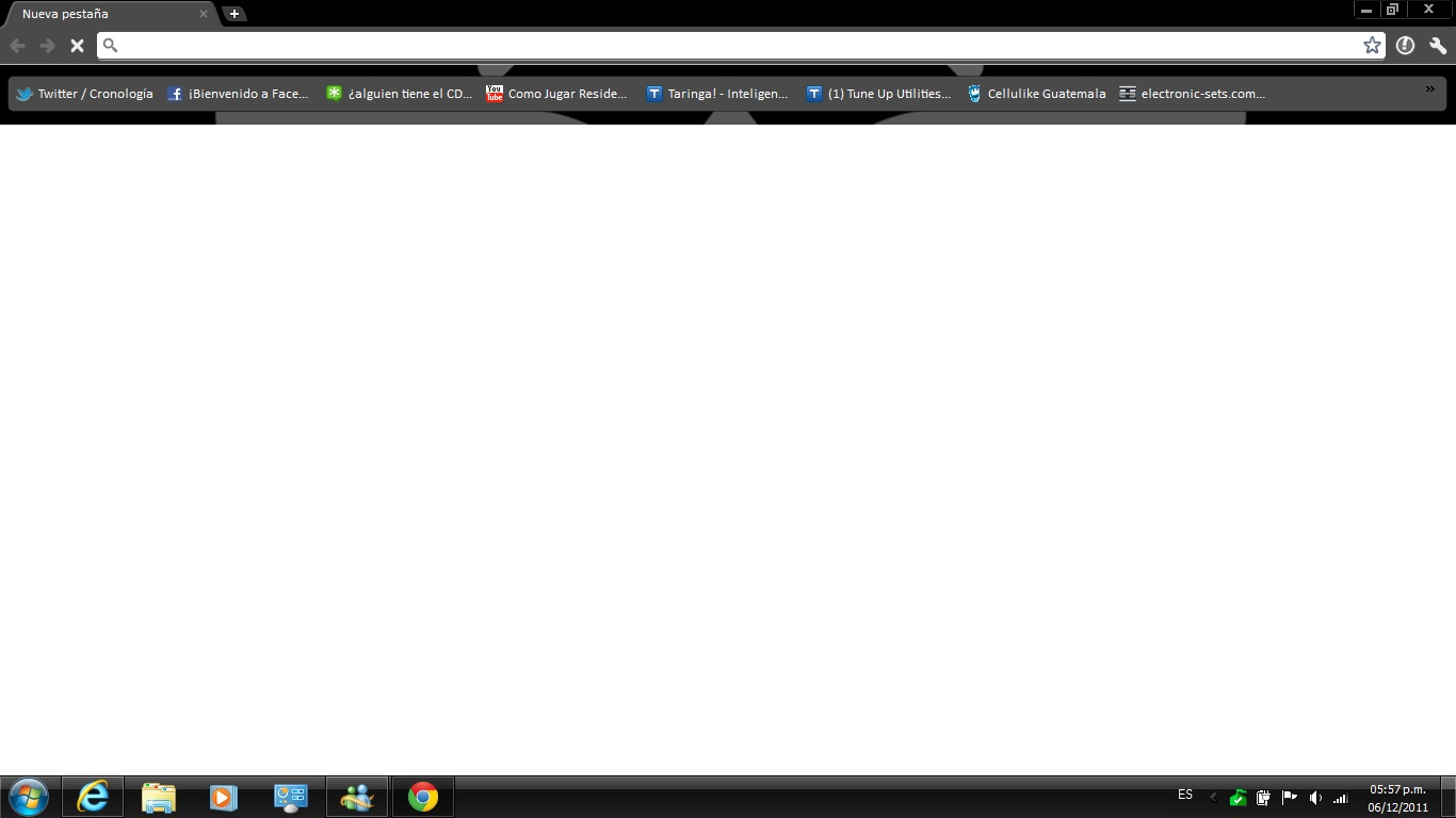 Google Chrome se queda en blanco
