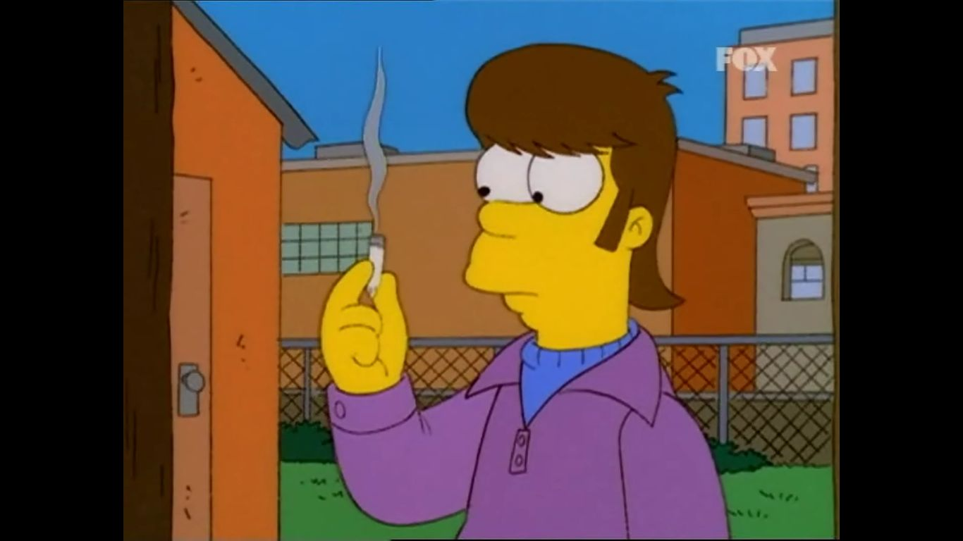 Los Simpsons Homero Fuma Marihuana Imperdible